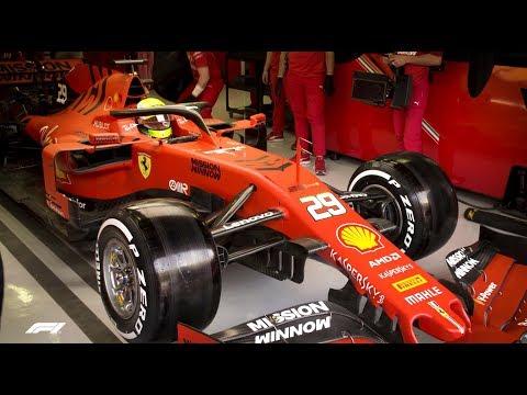 Mick Schumacher's First Ferrari Test | Bahrain International Circuit