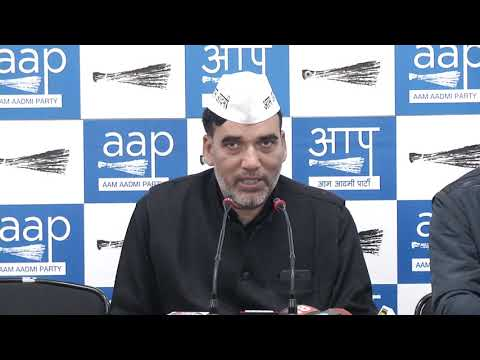 AAP Delhi Convenor Gopal Rai Briefs on Joint Opposition Rally Against Central Govt