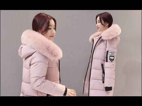 a73abc224ecf Parka di Inverno Delle Donne Cappotti Lunghi di Cotone Casual Pelliccia Con