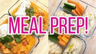 Weekly Meal Prep! 🍇 Chicken Curry Bowls, Hummus Bento Boxes, Egg Bites + More!