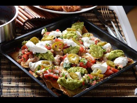 Nachos s Guacamole a fazolemi