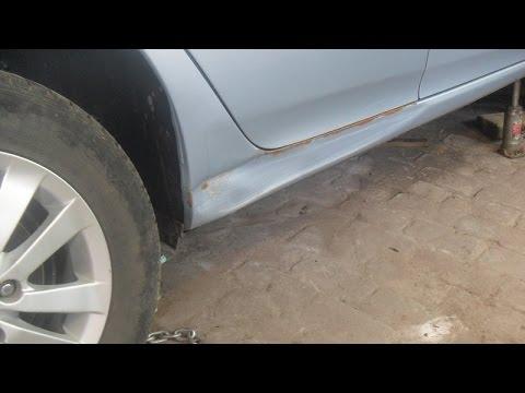 ремонт порога. Кузовной ремонт порога Toyota Corolla.