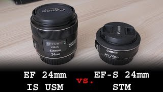 Canon EF-S 24mm f/2.8 STM pancake vs. EF 24mm f/2.8 IS USM review (on APS-C)