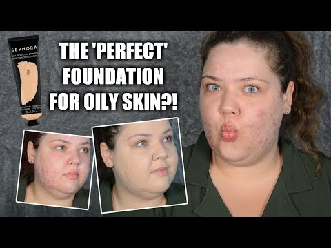 THE BEST FOUNDATION FOR OILY SKIN? SEPHORA MATTE PERFECTION ALL DAY WEAR TEST