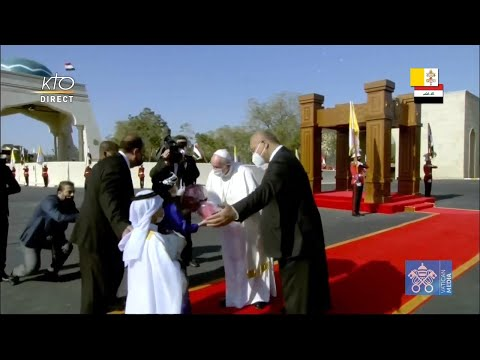Cérémonie de Bienvenue du pape François à Bagdad