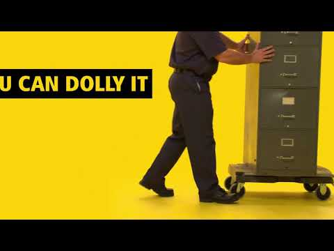 Product video for Triple Trolley with Straight Handle, Utility Duty with 3 In Casters, Black