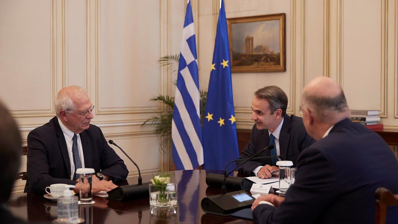 Συνάντηση Κ. Μητσοτάκη με τον Ύπατο Εκπρόσωπο της ΕΕ για θέματα Εξωτερικής Πολιτικής, Josep Borrell