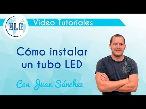 Cómo instalar un tubo LED T8