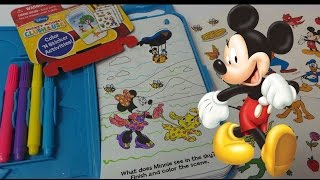 preview picture of video 'DISNEY'S MICKEY MOUSE CLUBHOUSE FUN ON THE GO TRAVEL SET UNBOXING & COLOURING IN MINNIE MOUSE'