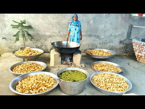 10000 GOLGAPPE PREPARED BY MY GRANNY | PANI PURI RECIPE | INDIAN STREET FOOD | GOLGAPPA RECIPE