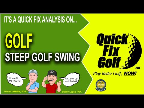 Sample Golf Lesson Steep Down Swing