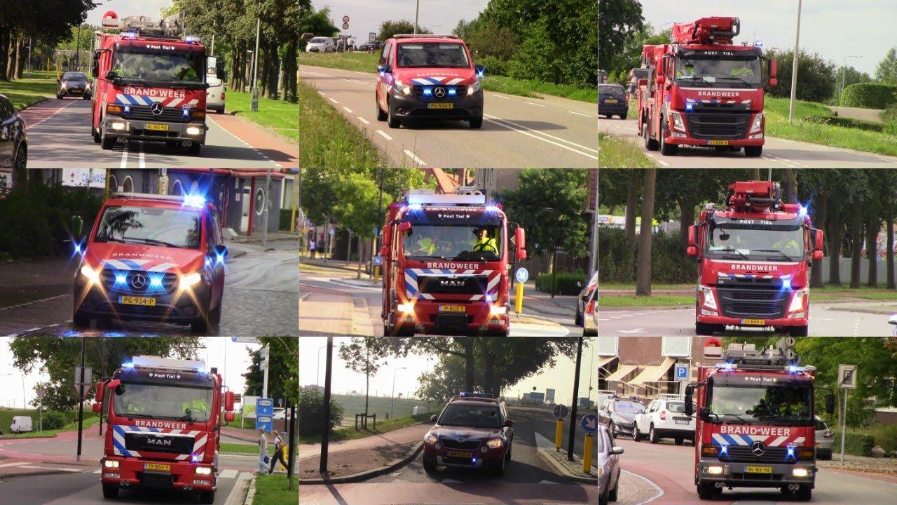Brandweer Tiel met spoed naar verschillende meldingen in Tiel en omgeving