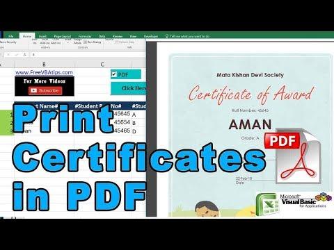 vba print certificates in PDF or word - free vba automation - vbatip ...