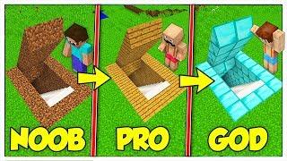 TRASFORMIAMO LA BASE SEGRETA NOOB IN PRO E GOD! - Minecraft ITA
