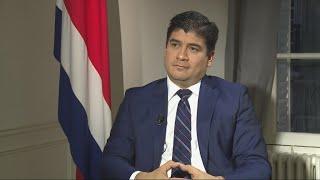 """Carlos Alvarado : """"Le Costa Rica a toujours été cohérent en matière d"""