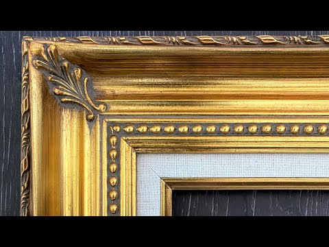 Orleans Ornate Antique Gold Leaf Wood Baroque Picture Frame