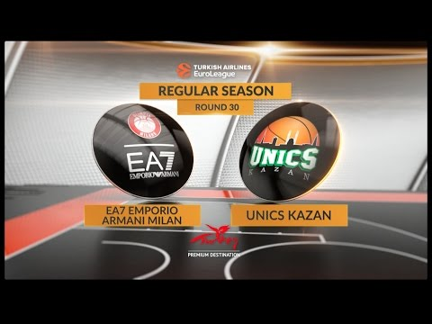 EuroLeague Highlights RS Round 30: EA7 Emporio Armani Milan 68-91 Unics Kazan