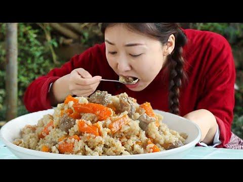 """新疆""""手抓羊肉飯"""",小雨一次成功,油潤的米飯大塊的羊肉,過癮! 【市民朱小雨】"""