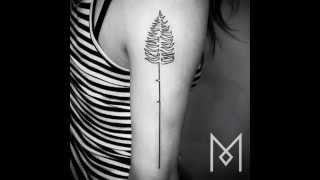 One Continuous Line Tattoos By Iranian German Artist Mo Ganji​ | Beautiful Art Slideshows