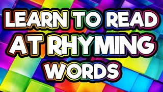 """LEARN HOW TO READ """"AT"""" RHYMING WORDS For Kindergarten   UPDATED With """"T"""" SOUND!    FUN CVC WORDS"""