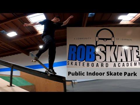 ROB SKATE ACADEMY INDOOR SKATE PARK TOUR!! (SkateIntel)