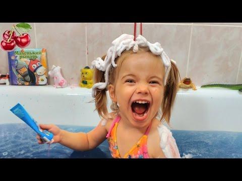 Развлечение для детей!!! Шипелка, пена и краски для ванной/ Сумасшедшая ванная/ Fun for the kids