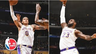 LeBron James, Kyle Kuzma combine for 58 points in win   Kings vs. Lakers   NBA Highlights