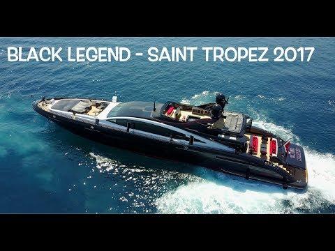 "33 Million $ Yacht ""Black Legend"" Mangusta 49.9 Meters - Saint Tropez 2017"
