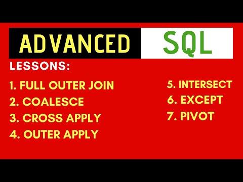 Advanced SQL Tutorial