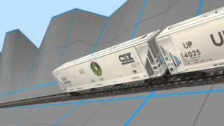 (First Video Of May!) Trainz: Flying Freight Cars