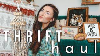 Thrift Home Decor Haul: Boho On A Budget || Sarah Belle