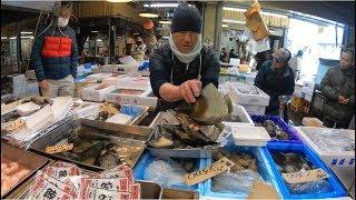 🇯🇵Trải Nghiệm Mua Hải Sản Tươi Roi Rói Ở Chợ Cá Nhật Bản #144