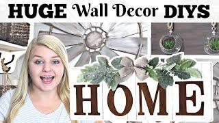 HUGE DIY Dollar Tree Wall Decor IDEAS For Your HOME!   High-End Dollar Tree Farmhouse DIYS 2020