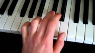 How to play axis of awesome 4 chords / accords  song on piano