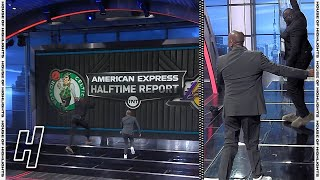 Shaq Beats Kenny To the Videoboard in His Slippers - Inside the NBA   April 15, 2021