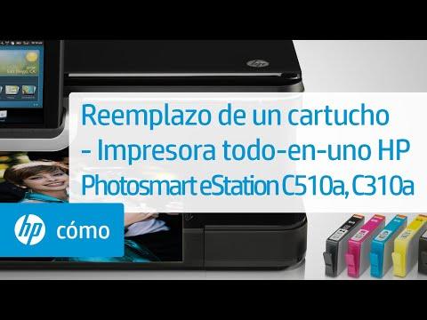 Reemplazo de un cartucho - Impresora todo-en-uno HP Photosmart eStation C510a, C310a