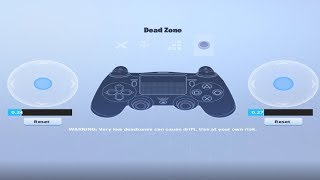 My Controller Deadzone Settings