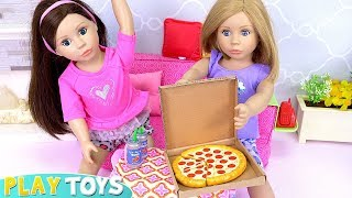 Bonnie Pearl Baby Dolls Cooking Pizza Kitchen Toys!
