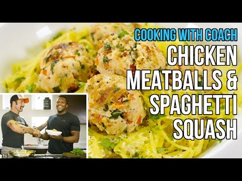 Lean Chicken Meatballs & Spaghetti Squash: Cooking with Tough Mudder Coach
