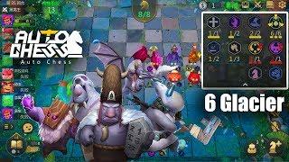 Auto Chess Mobile   New 6 Glacier Build Gameplay Vs GrimTouch Wizard Guide New Meta
