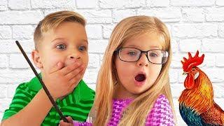 Диана и Рома играют в Школу. Почему нельзя кушать JELLY BELLY на уроках?