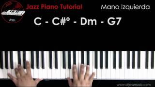 DRJASSMUSIC Jazz Piano Tutorial - Mano izquierda (Español)