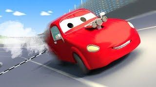 Эвакуатор Том и Гоночный автомобиль Джерри в Автомобильный Город | Мультфильм для детей
