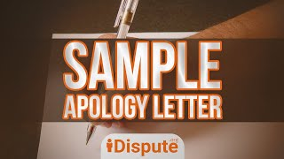 HOW TO WRITE A PERSONAL APOLOGY LETTER OR SORRY LETTER - iDispute