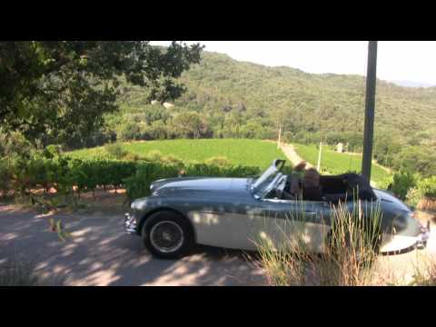 Cruising French Countryside in an Austin Healey 3000 MKIII