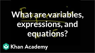 Variables Expressions and Equations