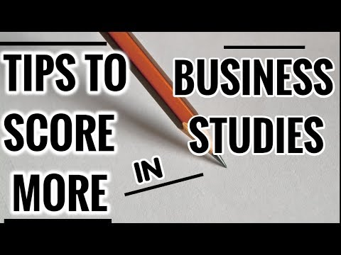 TIPS FOR Business Studies Paper