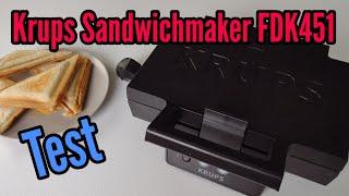 Krups Sandwichmaker FDK 451 Test Ist der Sandwhichmaker besser als andere