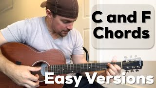 2 Versions of C and F Chords   Beginner Guitar Lesson