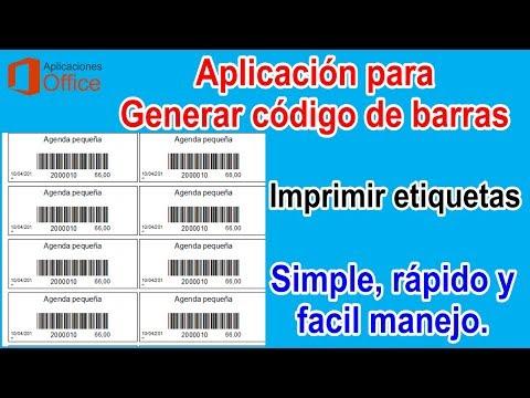 Generar codigo de barras e imprimir etiquetas (Ref. CB2)